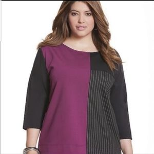 •Lane Bryant• Color Block Top